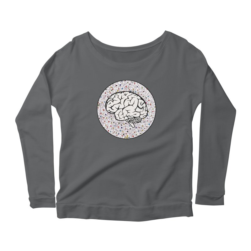 The Brain Circle Women's Scoop Neck Longsleeve T-Shirt by falconlara.design shop
