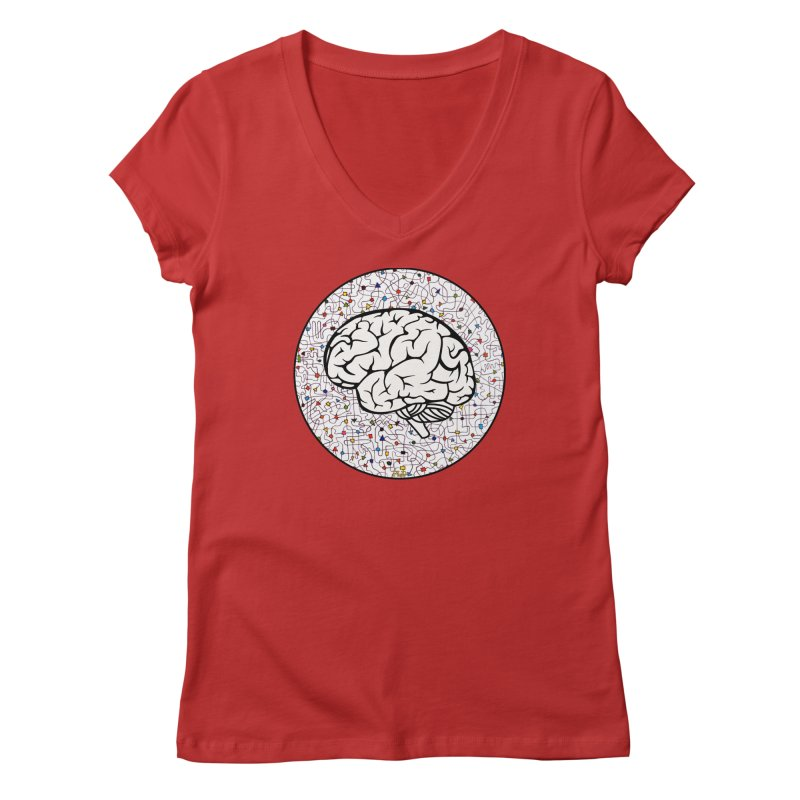 The Brain Circle Women's Regular V-Neck by falconlara.design shop