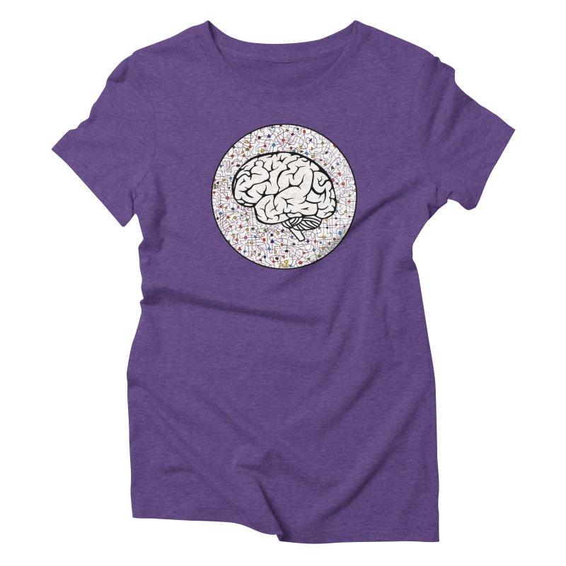 The Brain Circle Women's Triblend T-Shirt by falconlara.design shop