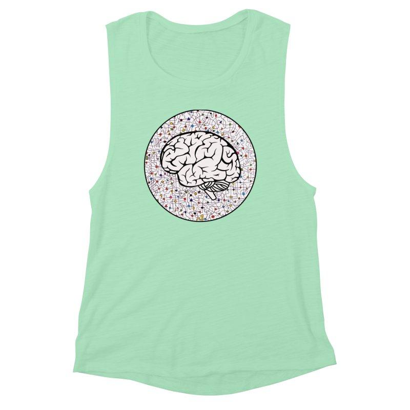 The Brain Circle Women's Muscle Tank by falconlara.design shop