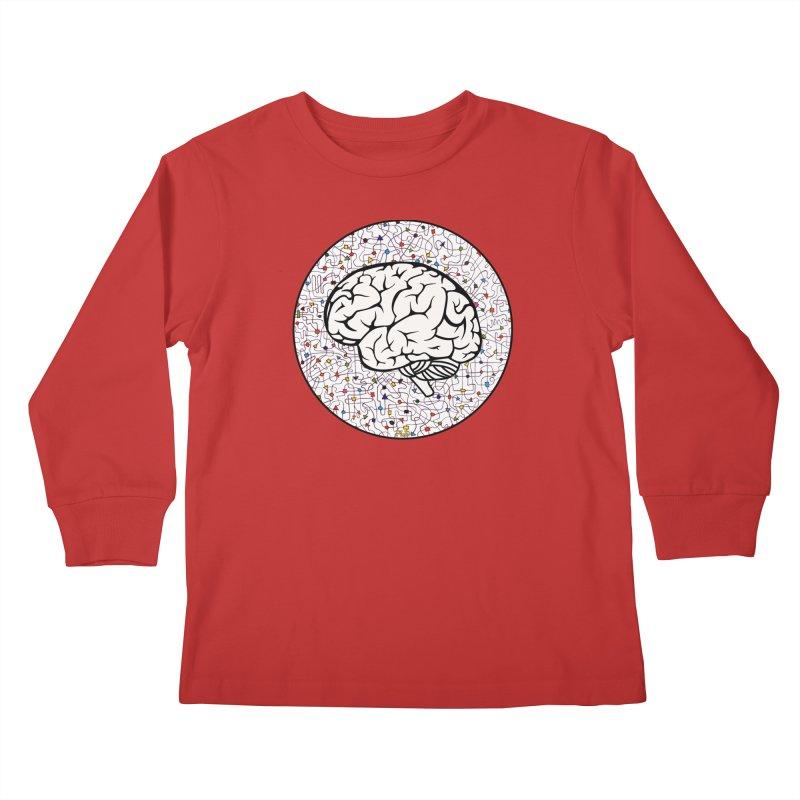 The Brain Circle Kids Longsleeve T-Shirt by falconlara.design shop