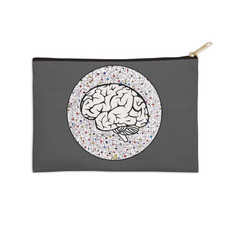 The Brain Circle Accessories Zip Pouch by falconlara.design shop