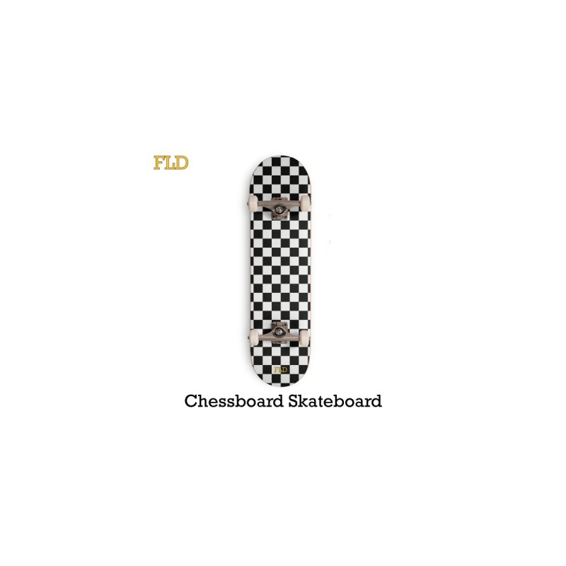 Chessboard Skateboard Accessories Skateboard by falconlara.design shop