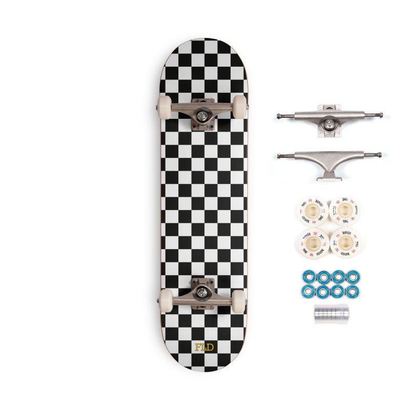 Chessboard Skateboard Accessories Complete - Premium Skateboard by falconlara.design shop