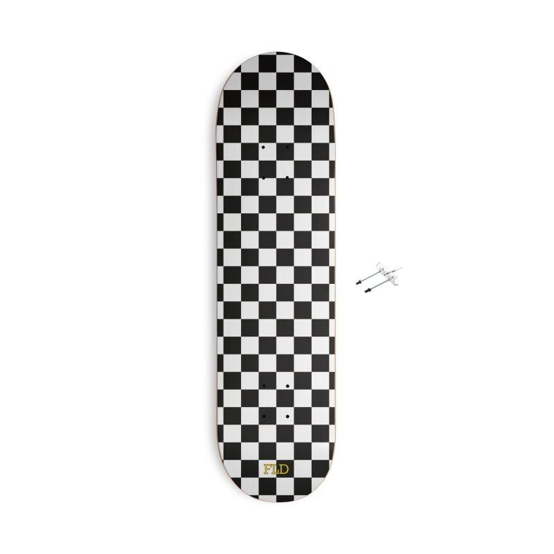 Chessboard Skateboard Accessories With Hanging Hardware Skateboard by falconlara.design shop