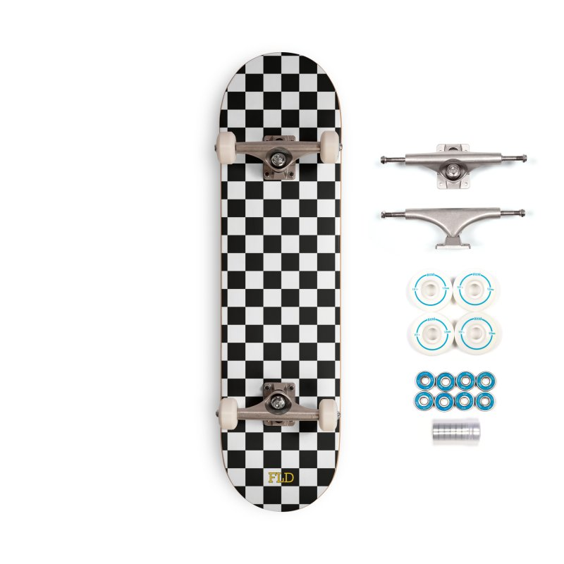 Chessboard Skateboard Accessories Complete - Basic Skateboard by falconlara.design shop