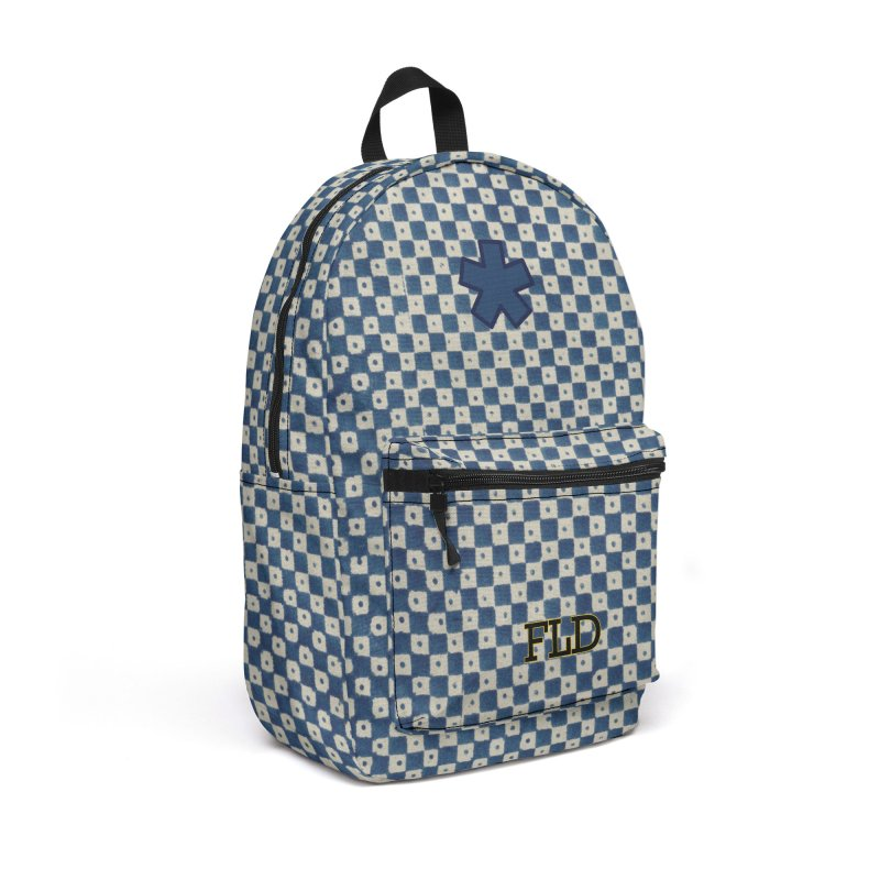 Dutch Chessboard Blue Accessories Backpack Bag by falconlara.design shop