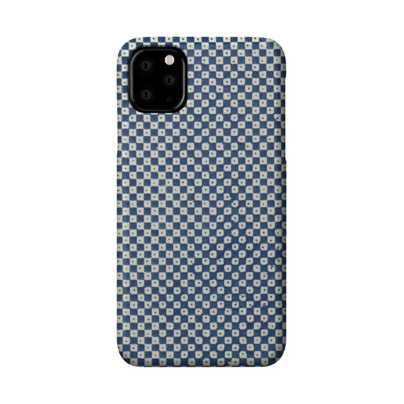 Dutch Chessboard Blue Accessories Phone Case by falconlara.design shop
