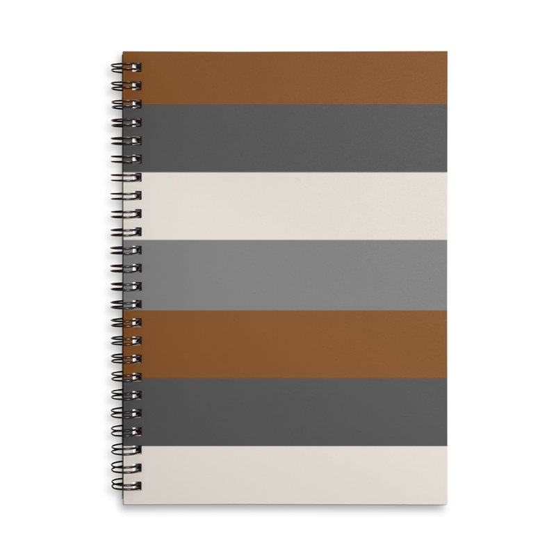 Four Neutrals by FLD Accessories Lined Spiral Notebook by falconlara.design shop