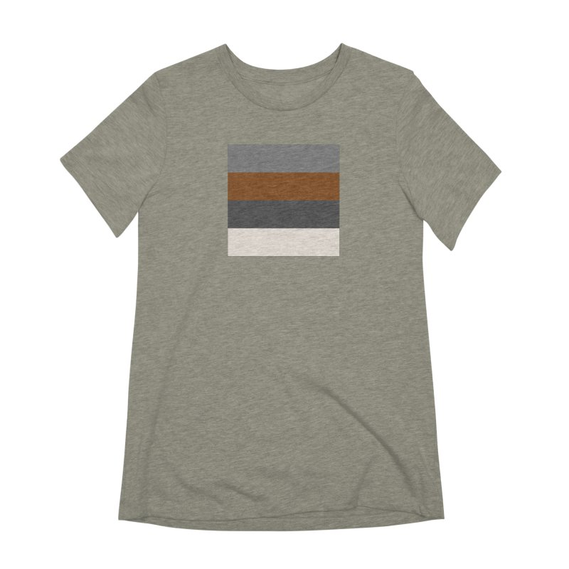 Four Neutrals by FLD Women's Extra Soft T-Shirt by falconlara.design shop
