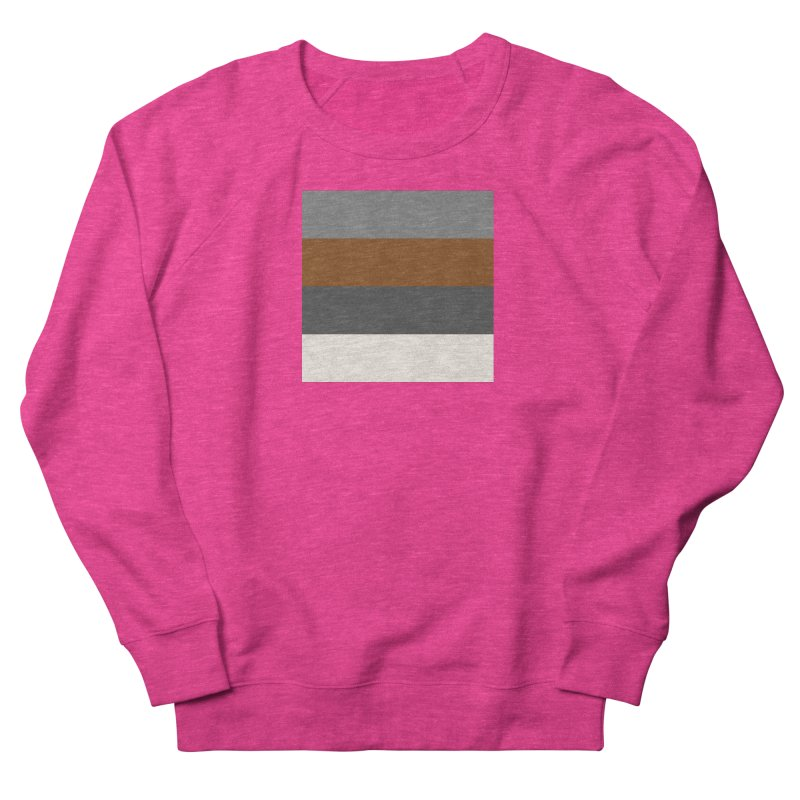 Four Neutrals by FLD Women's French Terry Sweatshirt by falconlara.design shop