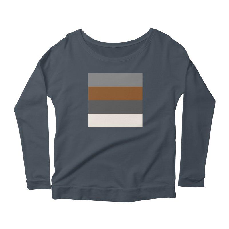 Four Neutrals by FLD Women's Scoop Neck Longsleeve T-Shirt by falconlara.design shop
