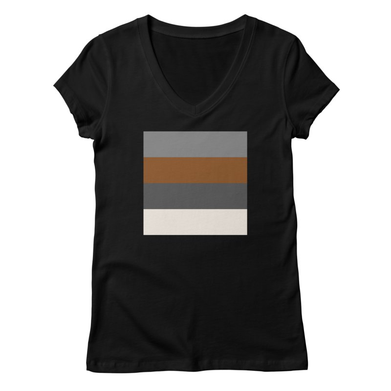 Four Neutrals by FLD Women's V-Neck by falconlara.design shop