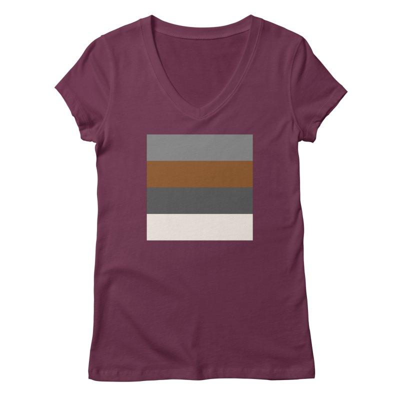 Four Neutrals by FLD Women's Regular V-Neck by falconlara.design shop