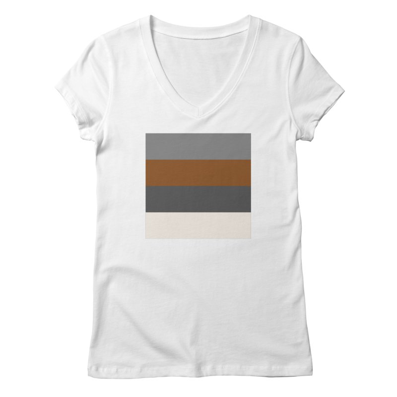 Four Neutrals by FLD Women's Regular V-Neck by falconlara.design shop