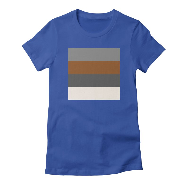 Four Neutrals by FLD Women's Fitted T-Shirt by falconlara.design shop