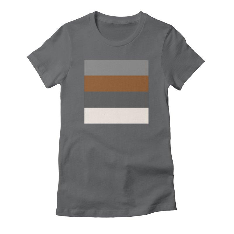 Four Neutrals by FLD Women's Fitted T-Shirt by falconlara.design shop