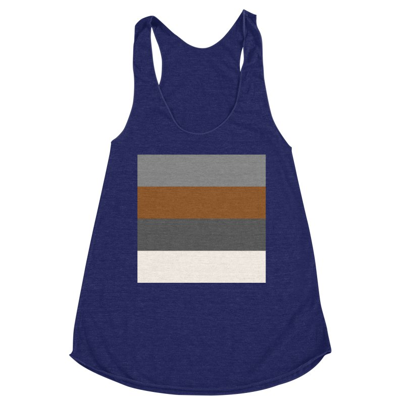 Four Neutrals by FLD Women's Racerback Triblend Tank by falconlara.design shop