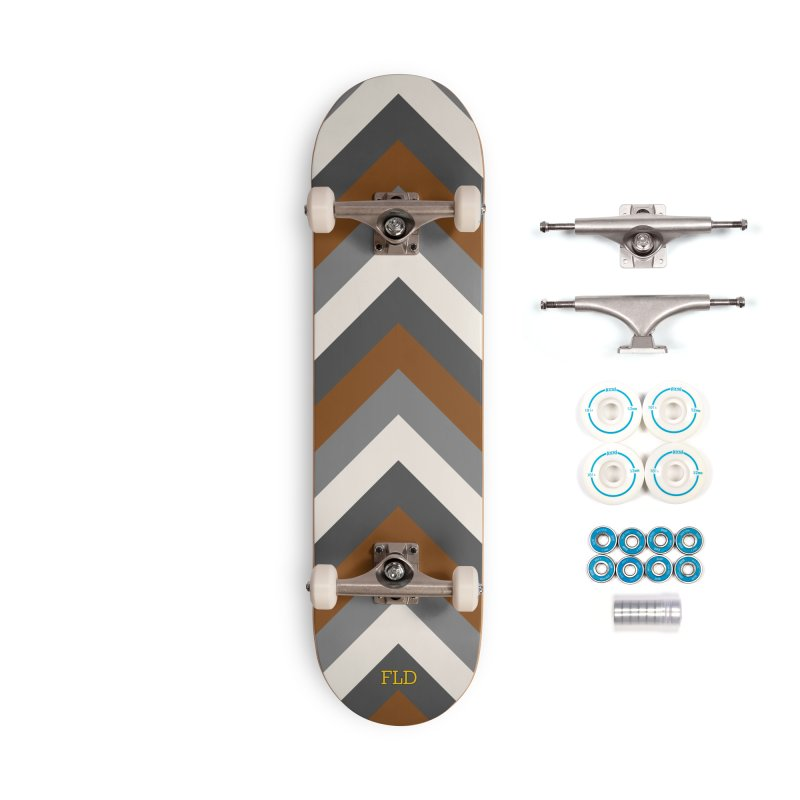 Four Neutrals by FLD Accessories Complete - Basic Skateboard by falconlara.design shop