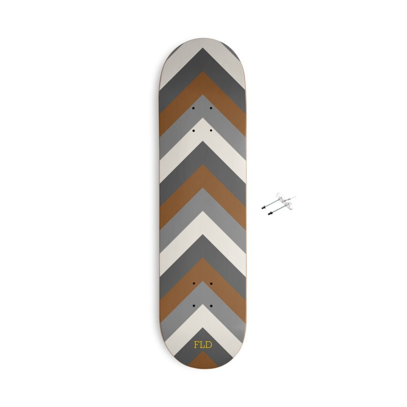 Four Neutrals by FLD Accessories With Hanging Hardware Skateboard by falconlara.design shop