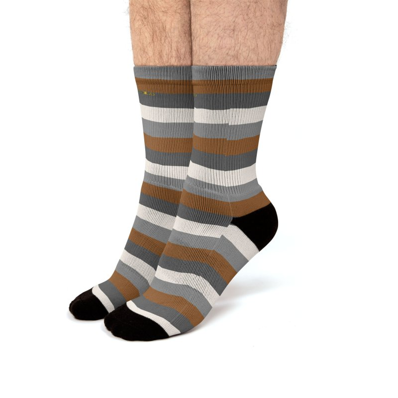 Four Neutrals by FLD Men's Crew Socks by falconlara.design shop