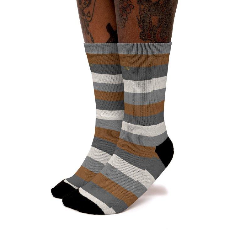 Four Neutrals by FLD Women's Crew Socks by falconlara.design shop
