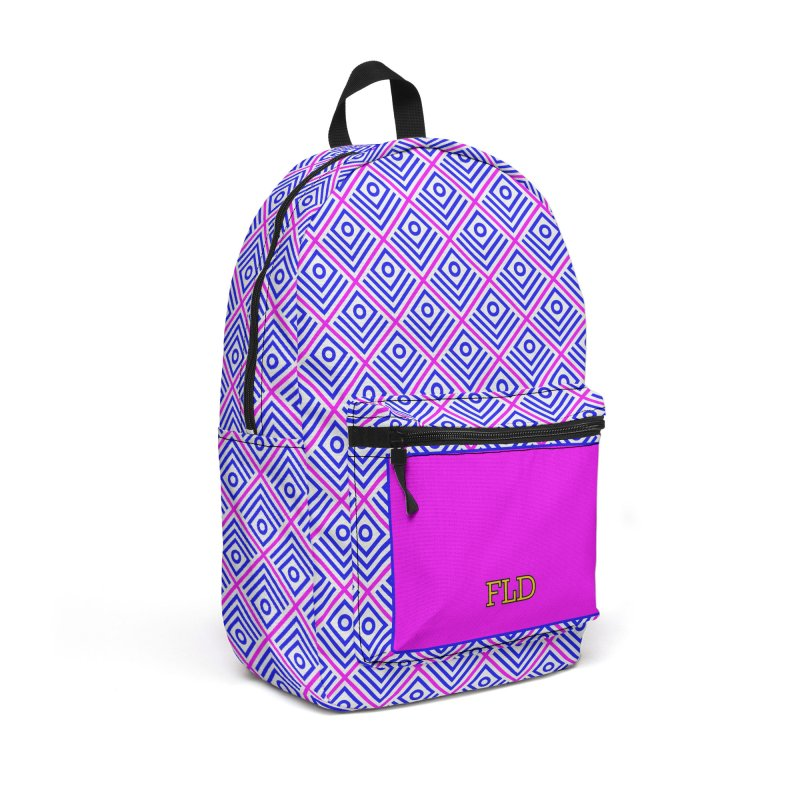 FLD Box Pattern - Abstract Accessories Backpack Bag by falconlara.design shop