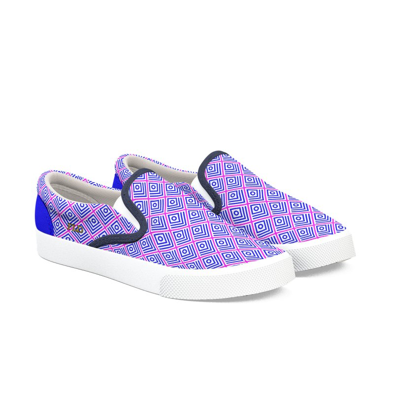 FLD Box Pattern - Abstract Women's Slip-On Shoes by falconlara.design shop