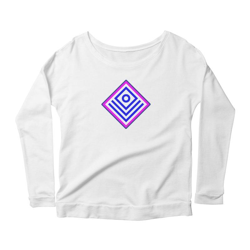 FLD Box Pattern - Abstract Women's Scoop Neck Longsleeve T-Shirt by falconlara.design shop