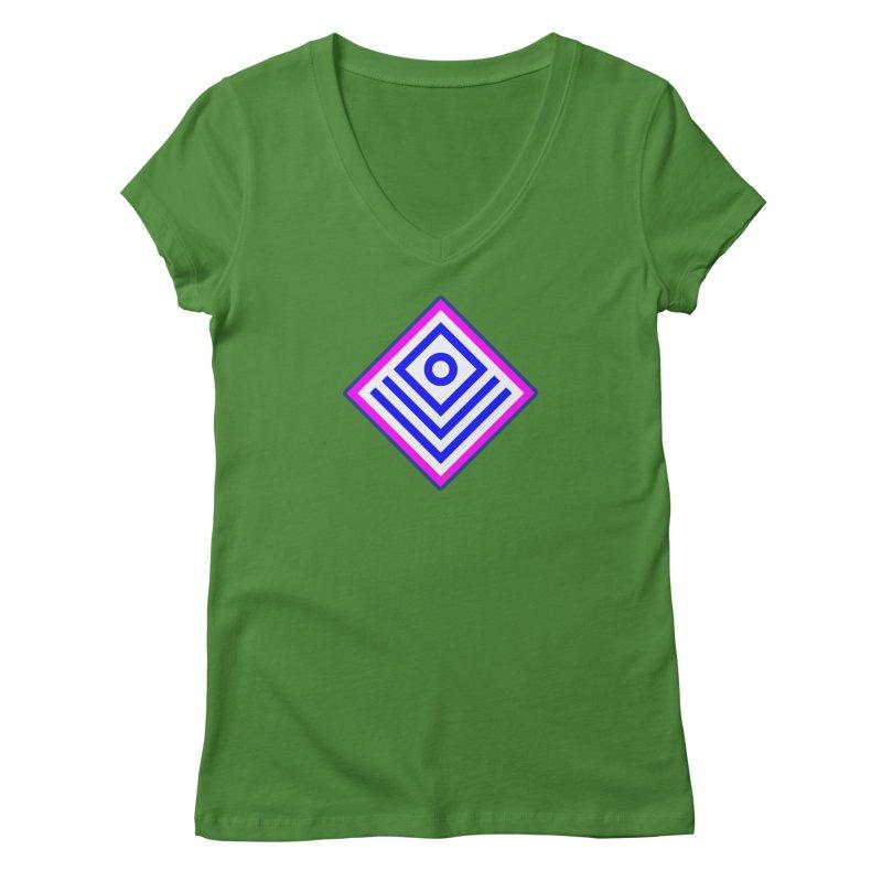 FLD Box Pattern - Abstract Women's Regular V-Neck by falconlara.design shop