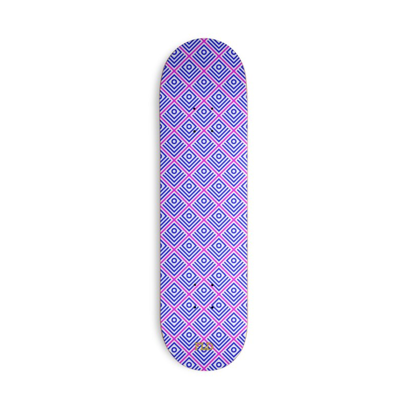 FLD Box Pattern - Abstract Accessories Deck Only Skateboard by falconlara.design shop