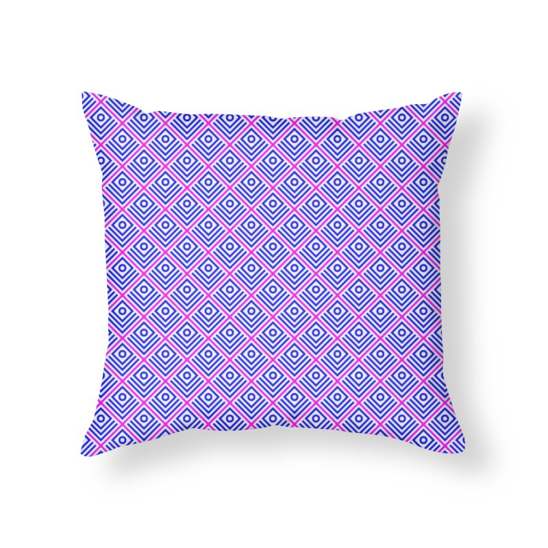 FLD Box Pattern - Abstract Home Throw Pillow by falconlara.design shop