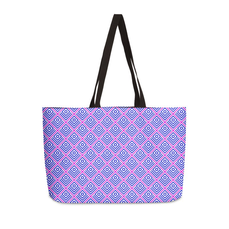 FLD Box Pattern - Abstract Accessories Weekender Bag Bag by falconlara.design shop