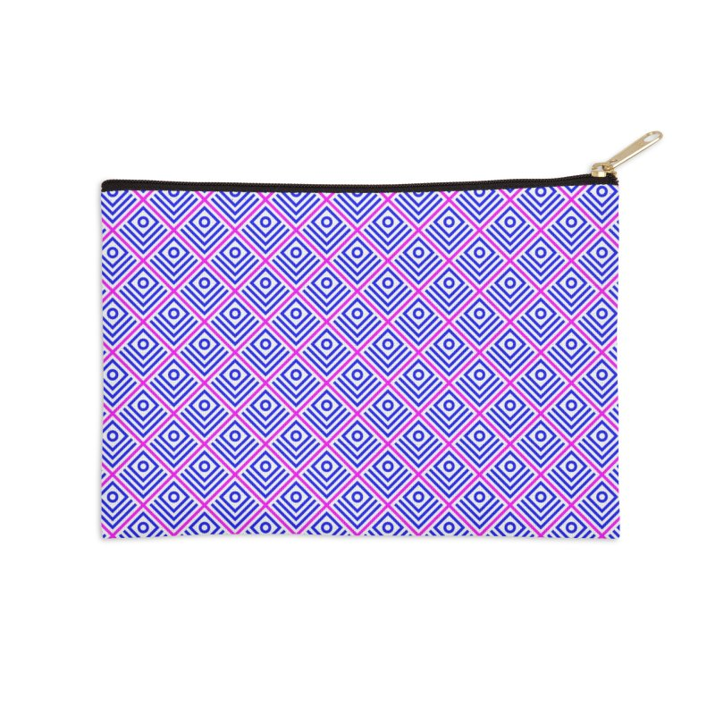 FLD Box Pattern - Abstract Accessories Zip Pouch by falconlara.design shop