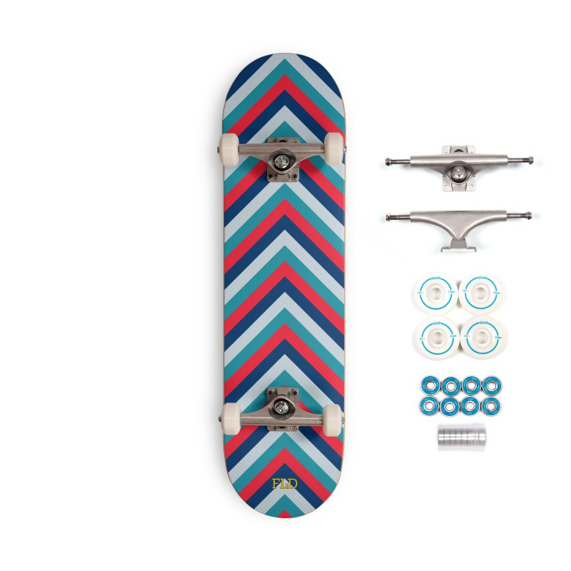 Four Brights Skateboard Accessories Complete - Basic Skateboard by falconlara.design shop