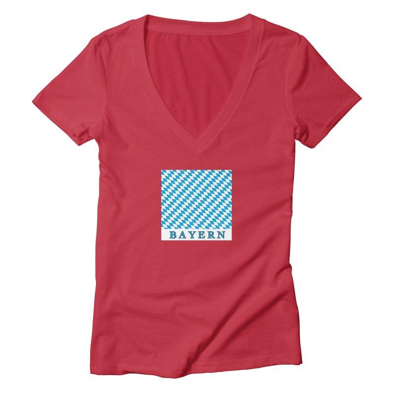 Bayern Women's Deep V-Neck V-Neck by falconlara.design shop