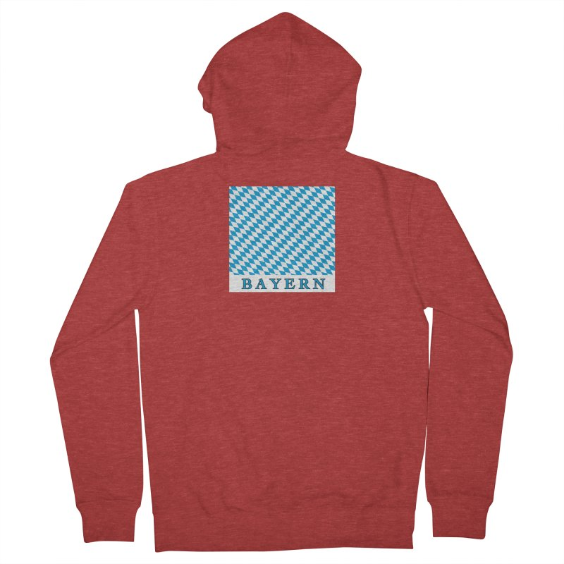 Bayern Men's French Terry Zip-Up Hoody by falconlara.design shop