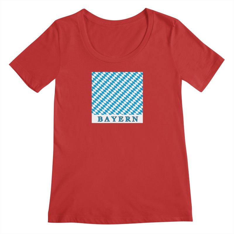 Bayern Women's Regular Scoop Neck by falconlara.design shop