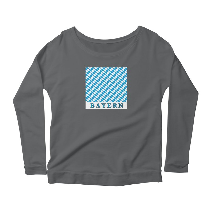 Bayern Women's Scoop Neck Longsleeve T-Shirt by falconlara.design shop