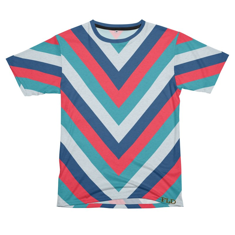 "Four Brights ""V"" Pattern Men's French Terry T-Shirt Cut & Sew by falconlara.design shop"
