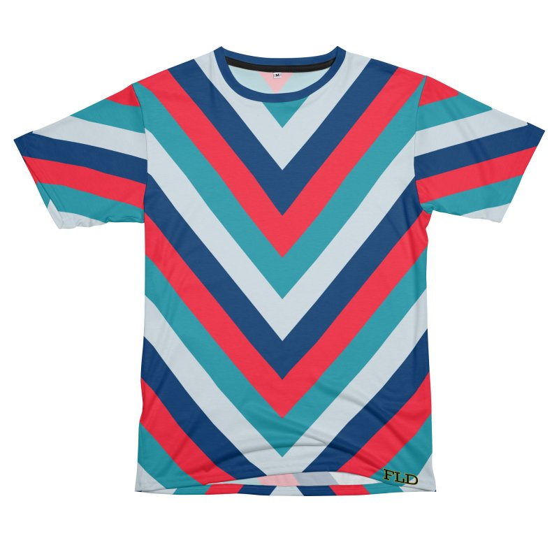"Four Brights ""V"" Pattern Men's T-Shirt Cut & Sew by falconlara.design shop"