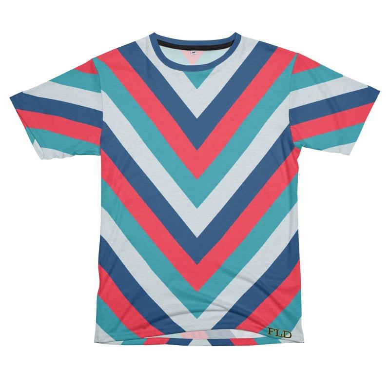 "Four Brights ""V"" Pattern Women's Unisex French Terry T-Shirt Cut & Sew by falconlara.design shop"