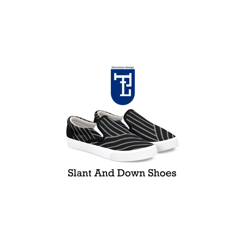 Slant And Down Shoes by falconlara.design shop