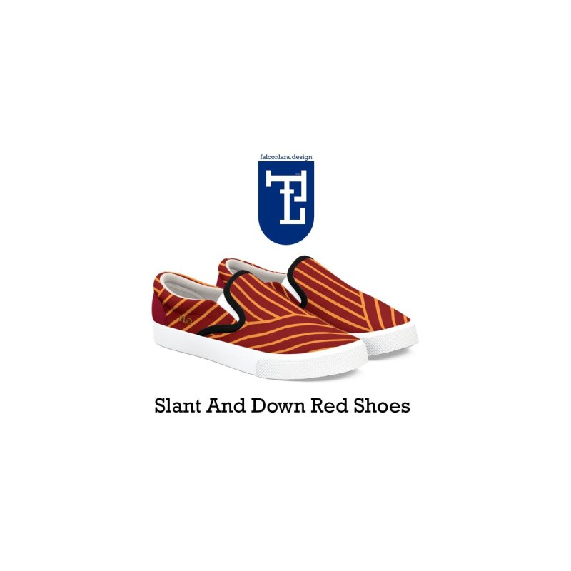 Slant And Down Shoes-Red by falconlara.design shop