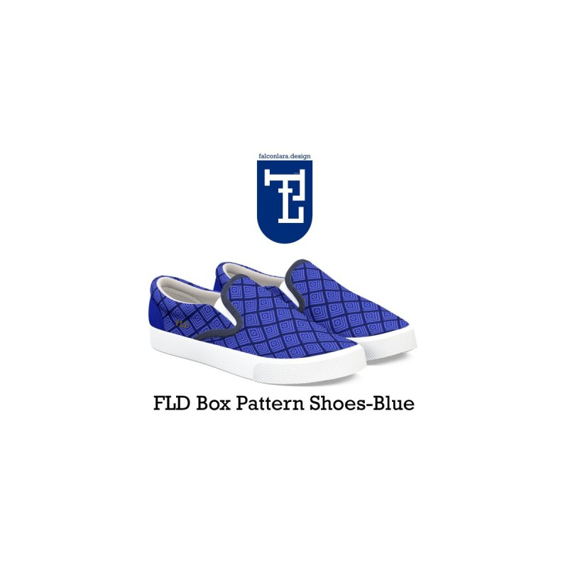 FLD Box Pattern Shoes- Blue by falconlara.design shop