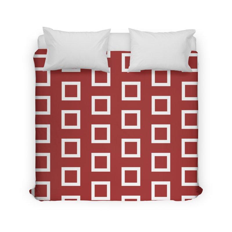 Mid-Century White Squares Home Duvet by falconlara.design shop