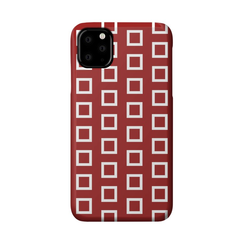 Mid-Century White Squares Accessories Phone Case by falconlara.design shop