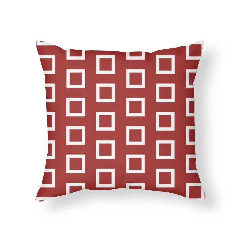 Mid-Century White Squares Home Throw Pillow by falconlara.design shop