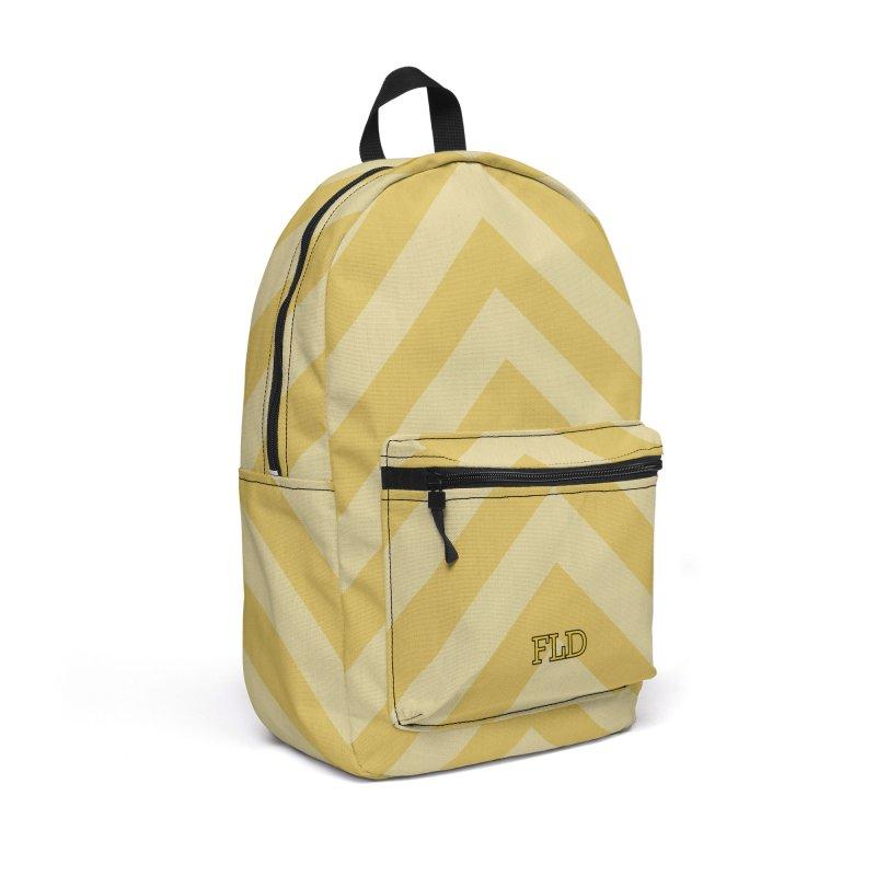 Bitonal Chevrons Accessories Backpack Bag by falconlara.design shop