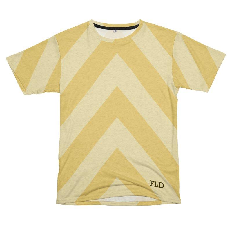 Bitonal Chevrons Women's Unisex French Terry T-Shirt Cut & Sew by falconlara.design shop